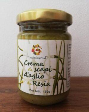 Crema di scapi d'aglio di resia Presidio Slow Food